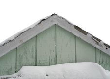 Free Snow Covered Gable Royalty Free Stock Photography - 4897657