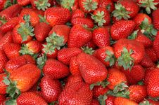 Free Strawberries At The Market Stock Image - 4897921