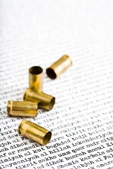 Free Bullet Shells Over Iraq Royalty Free Stock Photo - 4898095