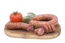 Free Sausage With Tomato And Dill Royalty Free Stock Images - 4898519