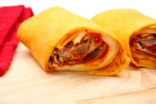 Free Pulled Pork And Provolone Wrap Royalty Free Stock Photo - 4898665