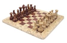 Free Stone Chess Set Stock Photography - 4899092