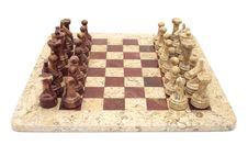 Free Stone Chess Set Royalty Free Stock Photo - 4899095