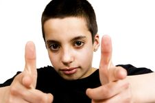 Free Dude Pointing At You Stock Images - 4899534