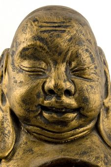 Close Up Of Golden Buddha Stock Images