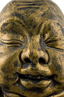Close Up Of Golden Buddha Royalty Free Stock Photography