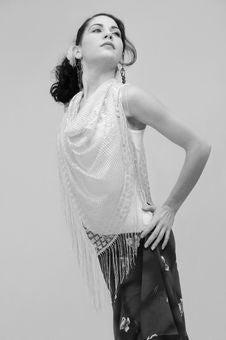Free Hispanic Dancer In Black An White Stock Photography - 4899962