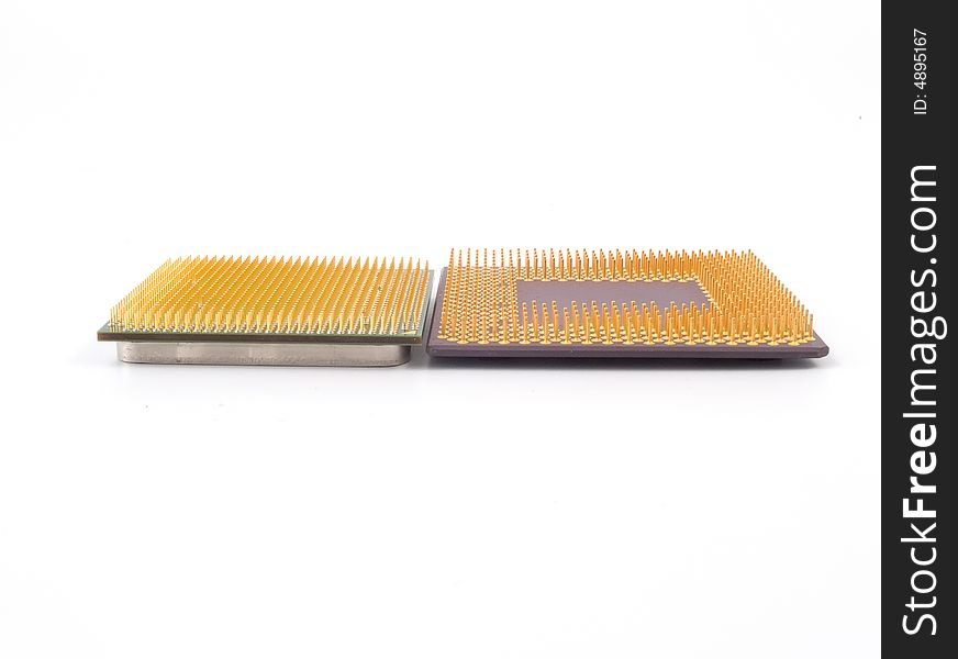 CPU  isolated on white