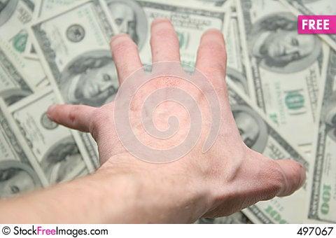 Money. All my ! Stock Photo