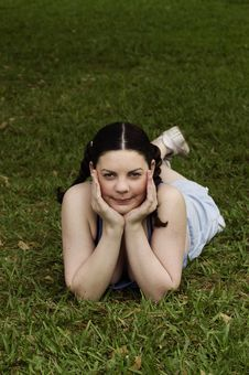 Free Young Girl Daydreaming Stock Photography - 490282