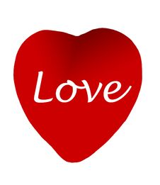 Free Red Heart With Love-clipping Path Royalty Free Stock Photography - 491247