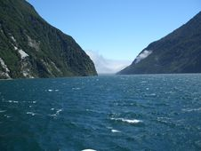 Free Cloudily Exit Of Milford Sound Royalty Free Stock Photo - 491505