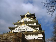 Free Osaka Castle - Japan Royalty Free Stock Image - 491826