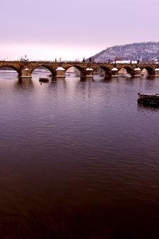 Free Charles Bridge In Prague Royalty Free Stock Photography - 493537