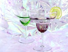 Free Margarita Glasses Royalty Free Stock Images - 493829