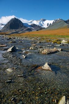 Free Clear River And Mountains-02 Royalty Free Stock Photography - 494107