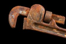 Free Rusted Pipe Wrench Stock Photos - 496903