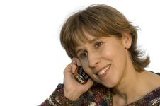 Women With Mobile Phone Royalty Free Stock Image