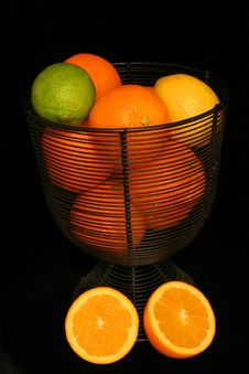 Free Citrus Fruit Over Black Royalty Free Stock Photo - 497745