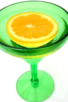 Free Half An Orange In Glass Stock Images - 497774