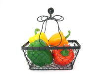 Free Peppers In A Basket Stock Photo - 497800