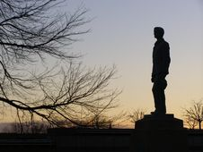 Free Statue Silhouette Royalty Free Stock Photo - 498055