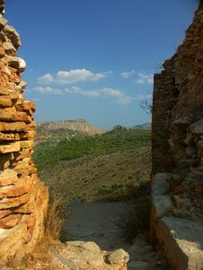 Free View From Ruins Royalty Free Stock Photos - 498638