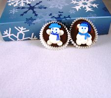 Free Snowman On Chocolate. Royalty Free Stock Images - 499209