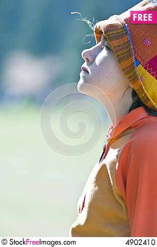 Free Little Pretty Girl Dreaming Stock Photo - 4902410
