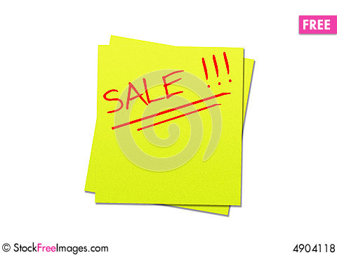 Free Sticky Note Yellow Royalty Free Stock Photos - 4904118