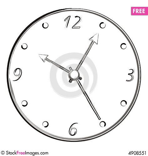 Free Brush Stroke Art - Clock Stock Image - 4908551
