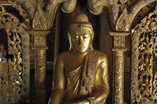 Free Myanmar, Salay: Statue In Salay Monastery Royalty Free Stock Photography - 4900027