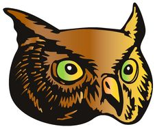 Free Great Horned Owl Head Royalty Free Stock Photos - 4900758