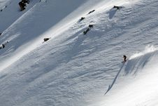 Free Ski Freeride In High Mountains Royalty Free Stock Image - 4900856