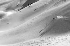 Free Ski Freeride In High Mountains Royalty Free Stock Images - 4900859