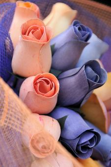 Free Wooden Roses Stock Image - 4901481