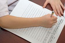 Free Handwriting Practice Homework Royalty Free Stock Image - 4901516