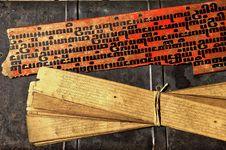Free Myanmar, Salay:parabaik Manuscripts Stock Images - 4901944