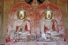 Free Myanmar, Bagan: Statue In Dhammayangyi Temple Royalty Free Stock Image - 4902326