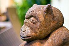 Stone Monkey Stock Image