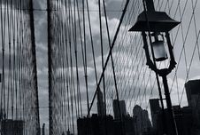 Free Brooklyn Bridge. Parallel Lines Stock Photo - 4903490