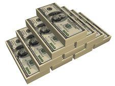 Free Dollars Pyramid Stock Photography - 4903542