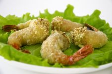 Free Shrimp On Salad Royalty Free Stock Photography - 4903567