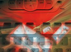 Red Email Abstract Royalty Free Stock Images