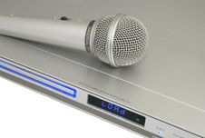Free Microphone On The Player Royalty Free Stock Photos - 4904098