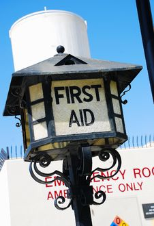 Free First Aid Lamp Royalty Free Stock Photos - 4904128