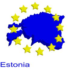 Free Contour Map Of Estonia Royalty Free Stock Photo - 4904375