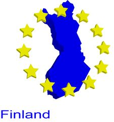 Free Contour Map Of Finland Stock Photography - 4904392