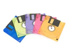 Free Color Floppy Disk Royalty Free Stock Images - 4904989