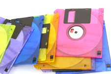 Free Color Floppy Disk Stock Photography - 4904992
